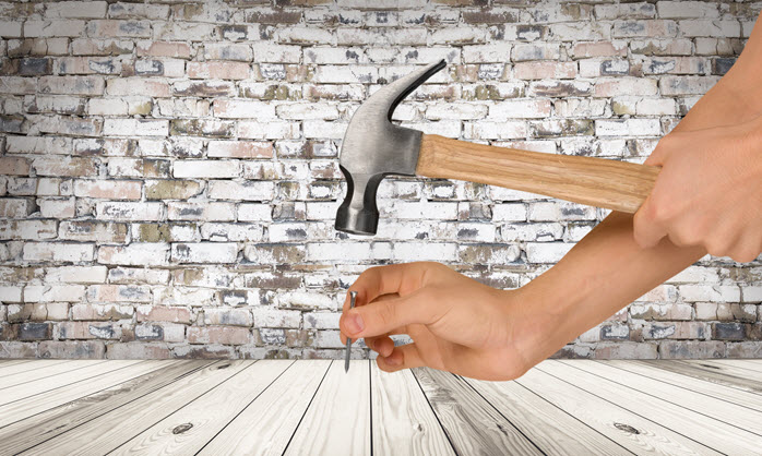 advertising is like hammering a nail into a board