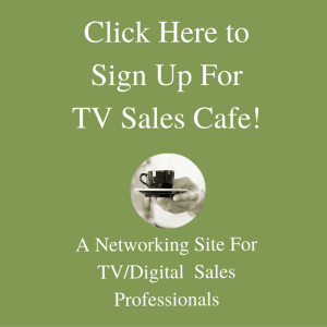 Television salespeople: sign up for TV Sales Cafe