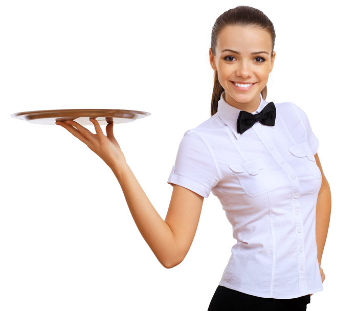 Advertising lesson from a waitress