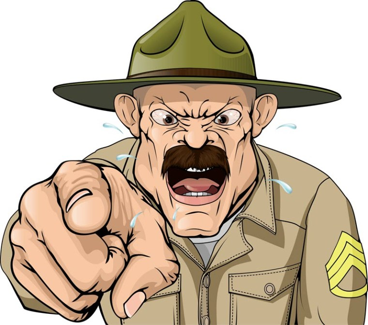 Your advertising should be as assertive as a drill sergeant