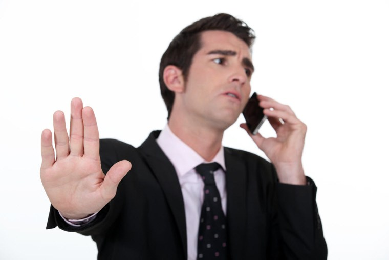 Salespeople must interrupt on the phone