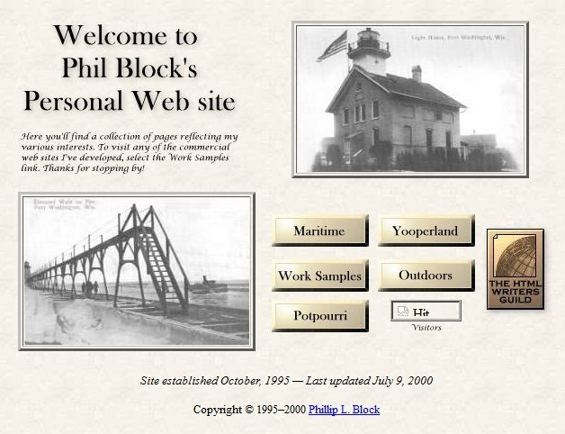 Phil Block's Personal Web Site, 2000-2008