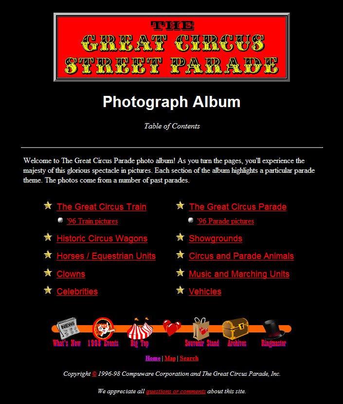 The Great Circus Parade Photo Album