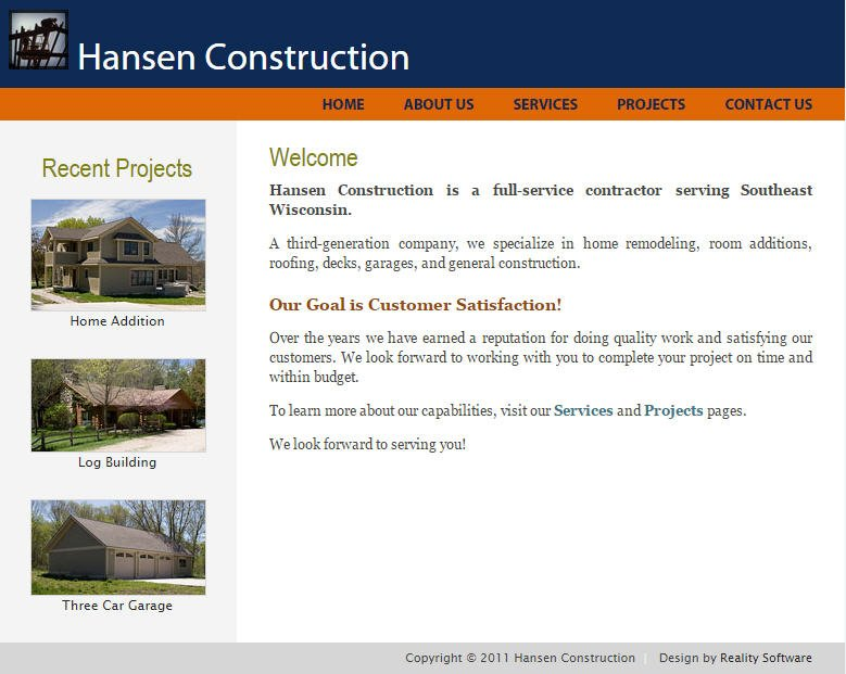 Hansen Construction Home Page