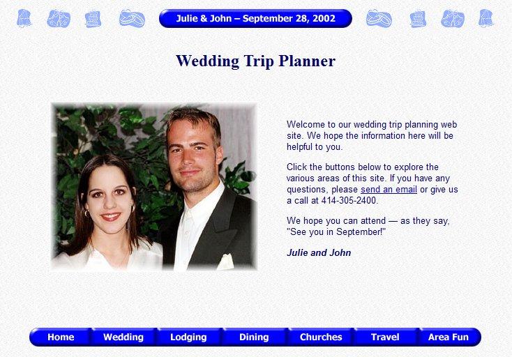 Julie and John's Wedding Trip Planner