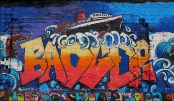 S.S. Badger Mural in Ludington