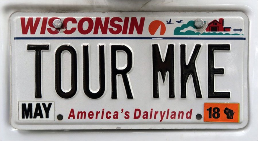Tour Milwaukee License Plate