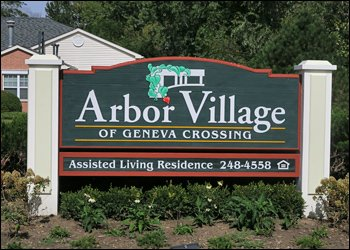 Arbor Village Sign