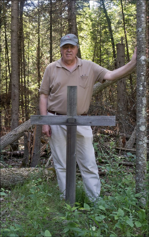 Phil at Dad's Memorial Cross