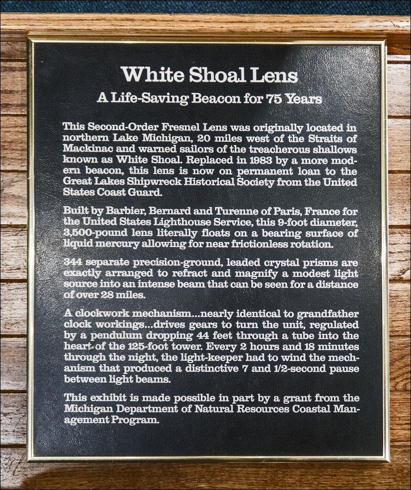 Second Order Fresnel Lens - White Shoal