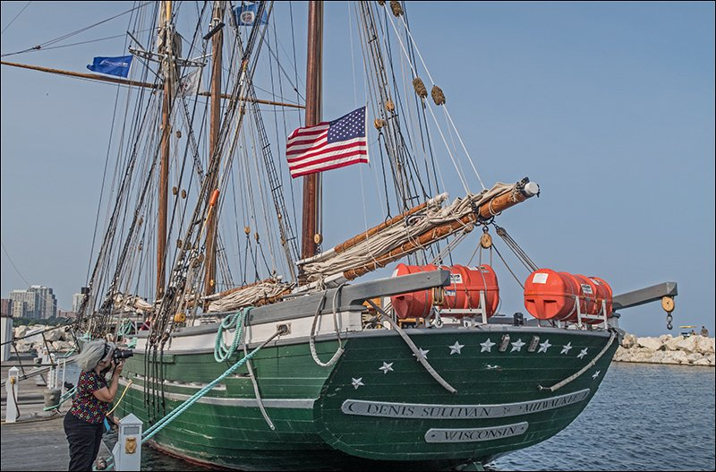 S/V Denis Sullivan Stern and Nameplate