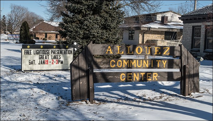 Allouez Community Center Sign