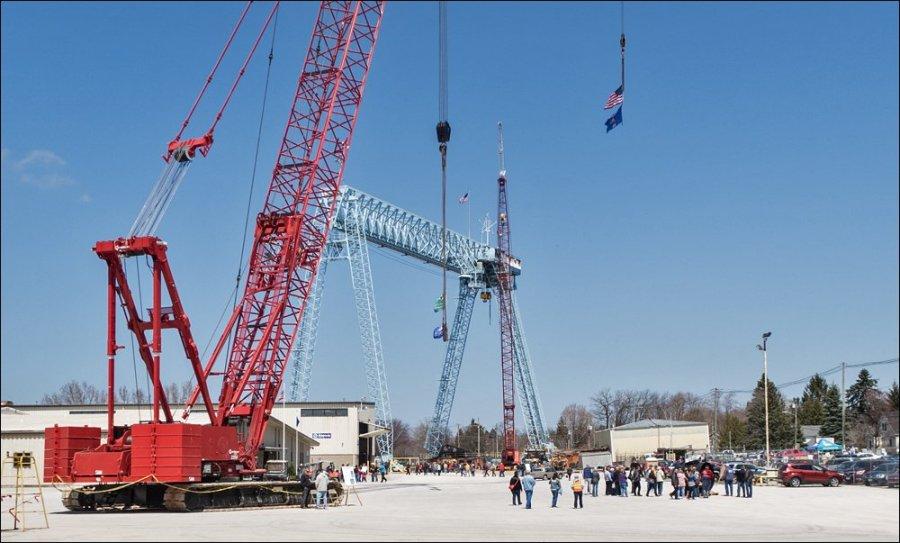 Cranes at Fincantieri Bay Shipbuilding