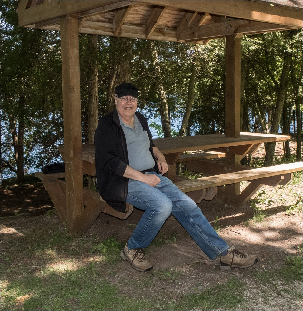 Taking a Break at Quarry Lake