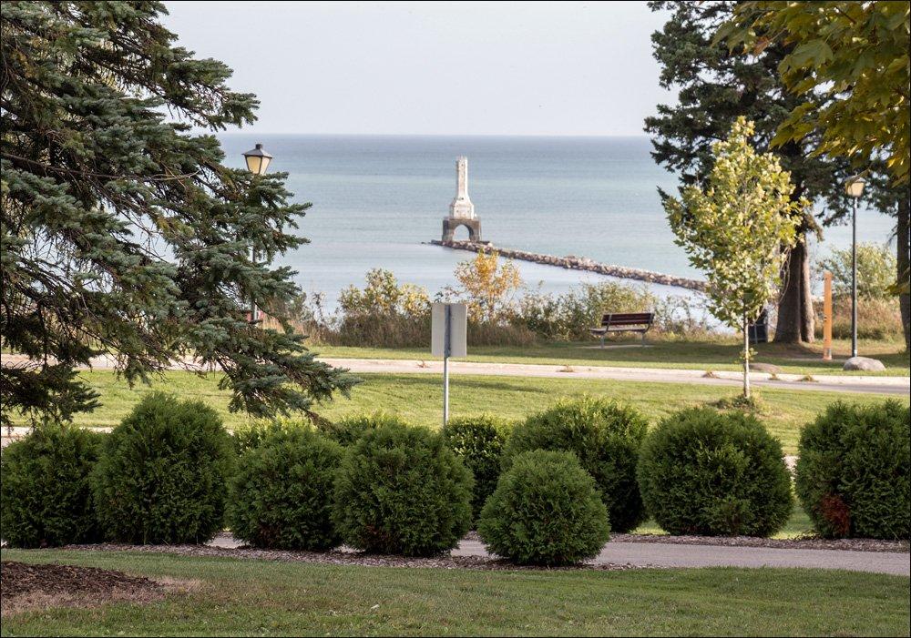 Breakwater Lighthouse from Upper Lake Park