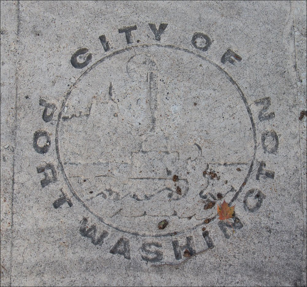 Port Washington Imprint in Pavement