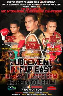 concepcion will be fighting again in the Philippines on January 11, 2009