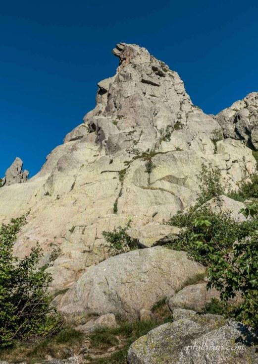 Roches collorées des montagnes Corse