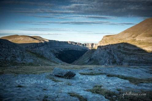 Magnifique lever du jour sur le canyon d'Ordesa