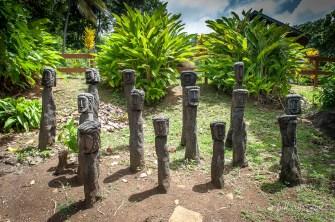 Totem indien de l'île Dominique