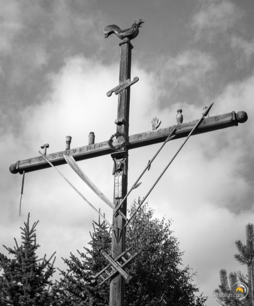 Une des nombreuses croix traditionnelles de Saint Véran
