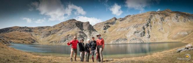 Panoramique sur les berges du lac du Grand Laus