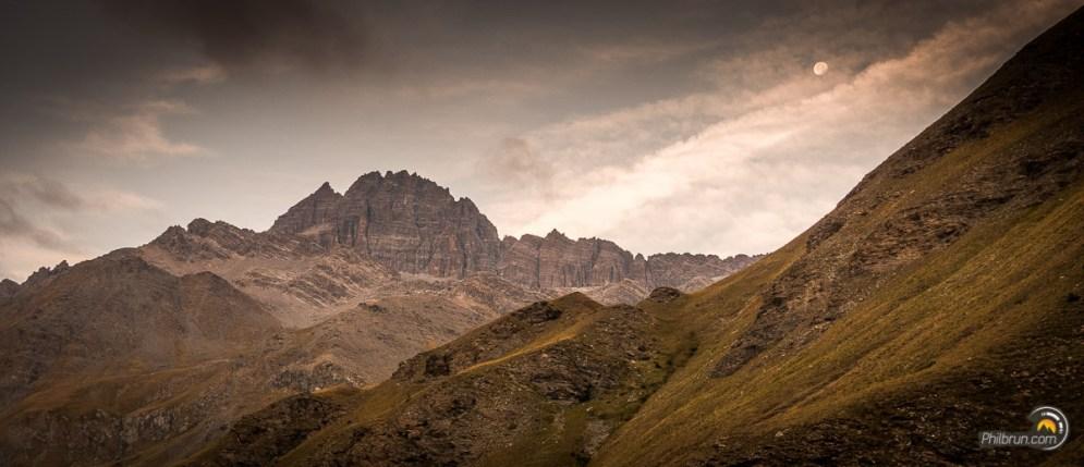 Au départ des Fonds Cervières une vue imprenable sur le Pic de Rochebrune
