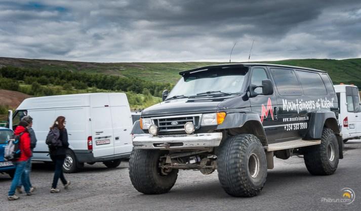 La taille des véhicules tout terrain est à l'image de la démesure de l'Islande