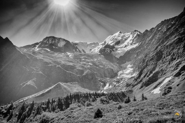 Le Dôme du Gouter et le glacier du Bionnassay