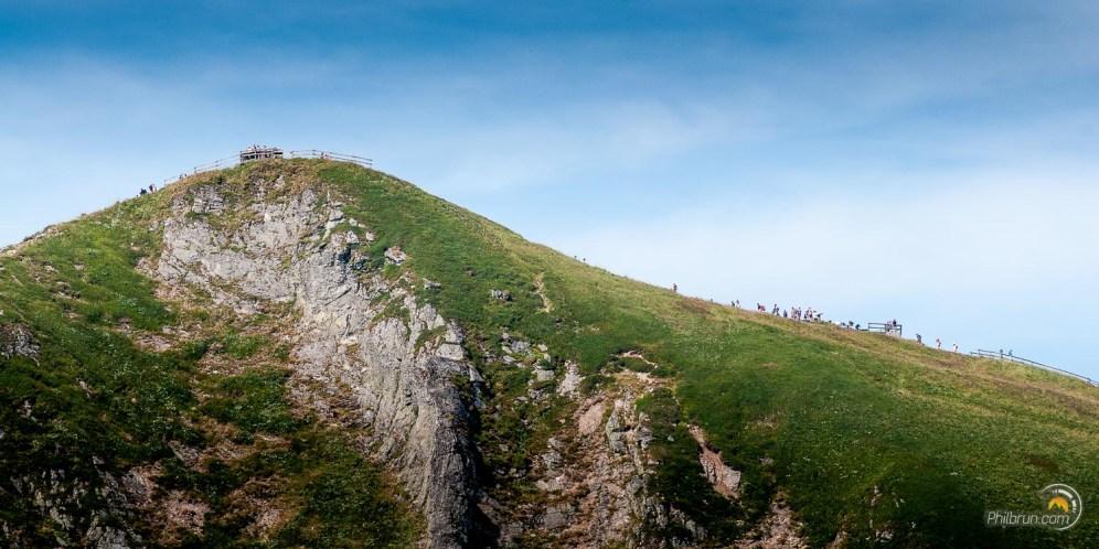 Le sommet du Sancy est fort convoité par les touristes venus par le téléphérique