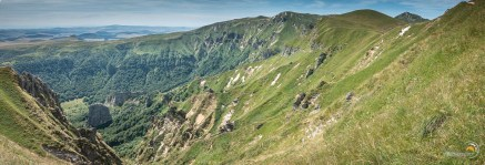 La vallée de Chaudefour lors de la descente sur les flancs de Puy Cacadogne
