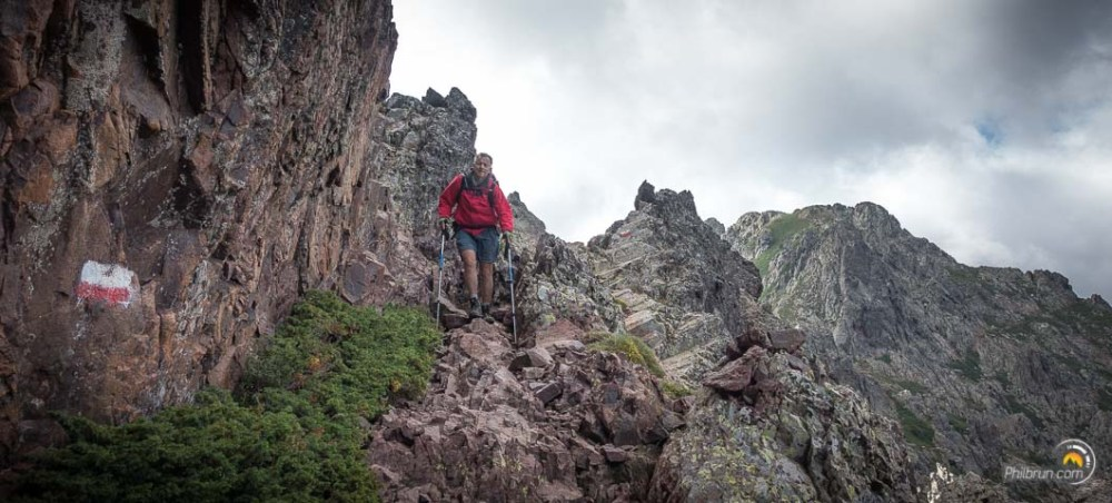 Passage rocheux du col d'Avartoli