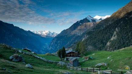 La vallée de Zermatt depuis Jungu