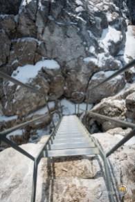 Echelle au sommet de la Tournette