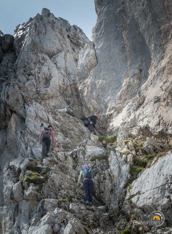Dernière grimpette avant le sommet de la Tournette
