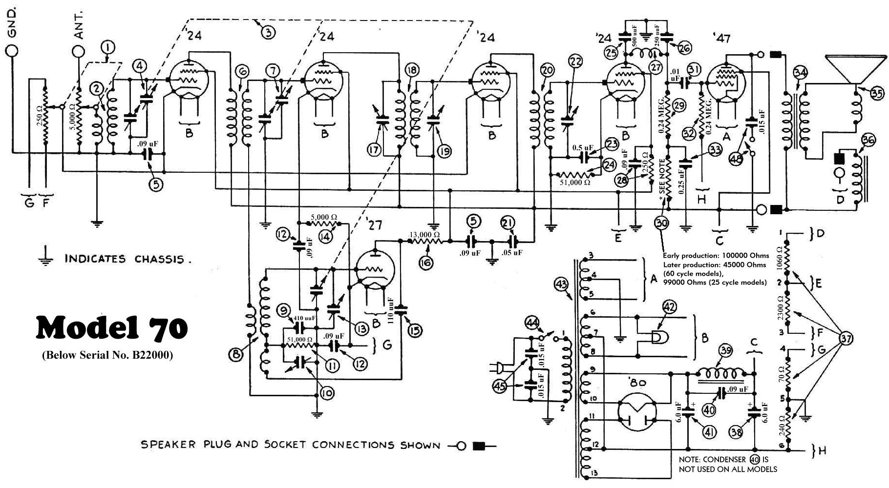 Philco Radio Schematic