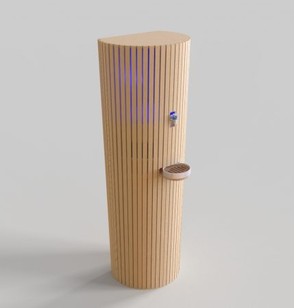 Fontaine Mélusine avec design bois