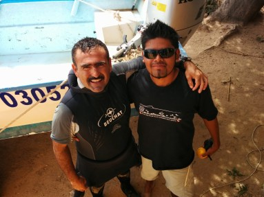Ricardo and his son José, who own and run Cabo Pulmo Watersports.