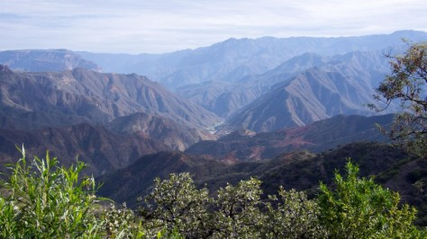 The winding road to Batopilas! Sanctuary!