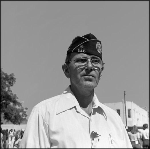 A veteran in downtown Huntsville