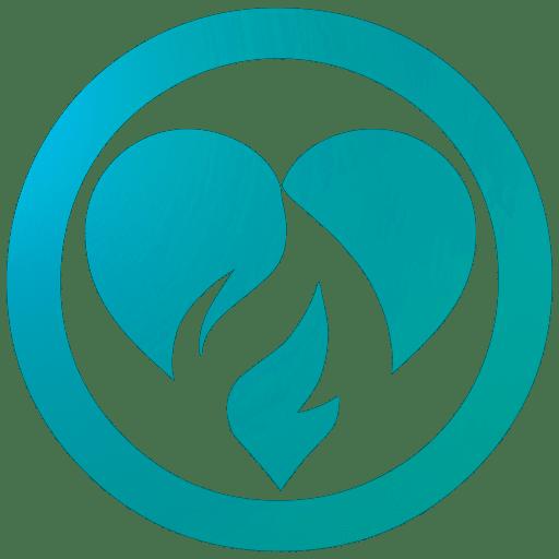 Phil Firetog Trio Heart Logo Blue