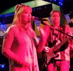 With guest vocalist Cyndi Dawson (Bongo Boy recording artists The Cynz) at Zeppelin Hall, Jersey City, NJ. Photo by Vinny DeNunzio.