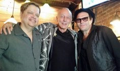 Phil Gammage with legendary record producer Mike Thorne and Kevin Tooley.