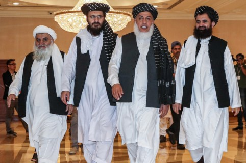 Taliban negotiating team in Doha