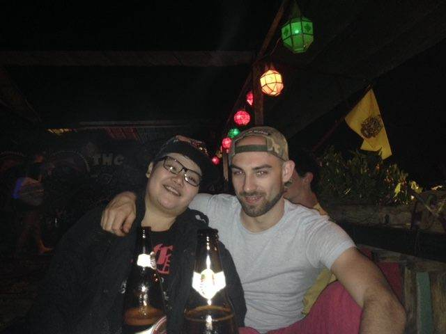 Me and Nice in THC rooftop bar, Chiang Mai