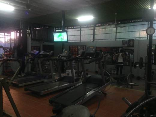 Cardio area at the gym in Siem Reap