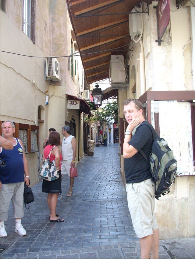 Photo of Istvan Aranyosi in Rethymno Crete.