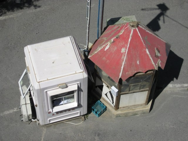 View of two kiosks from above