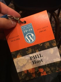 WordCamp Ann Arbor 2016 Badge
