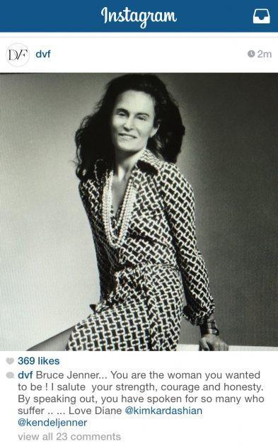Jenner in von Furstenberg Dress PhotoShop